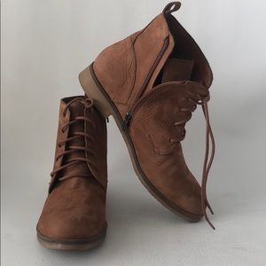 👍 Lucky Brand Leather Zip Side Boots 9.5